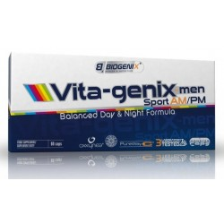 Biogenix VITA genix Men Sport AM-PM 60 kap.